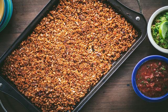 "Vegan ""chorizo"" made with cauliflower and walnuts - JAYNIE MCCLOSKEY"