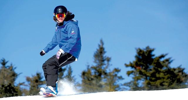 Alison Pariseau, snowboard instructor - JEB  WALLACE-BRODEUR