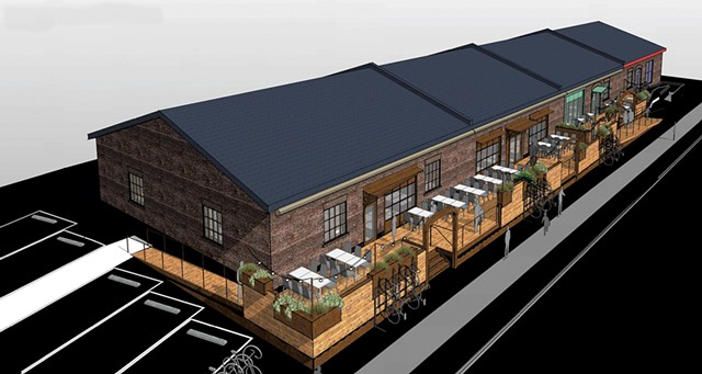 Rendering of deck planned for Burlington's 400 Pine Street - COURTESY OF ISRAEL SMITH