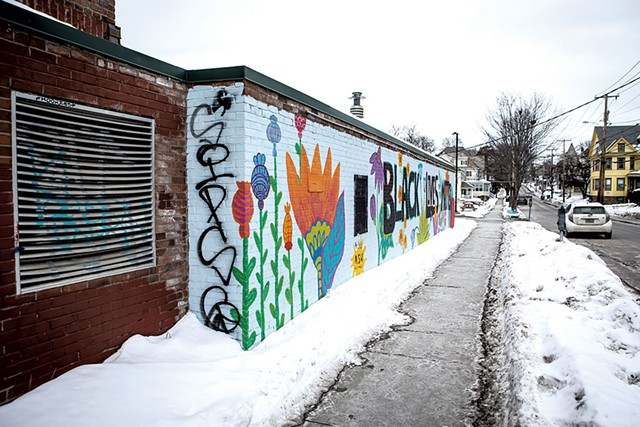 Black Lives Matter mural on South Union Street - LUKE AWTRY