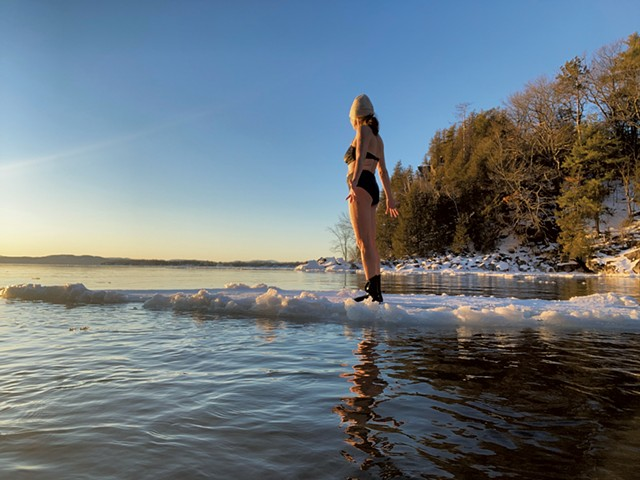 Katharine Montstream on Lake Champlain - COURTESY OF KATHARINE MONTSTREAM