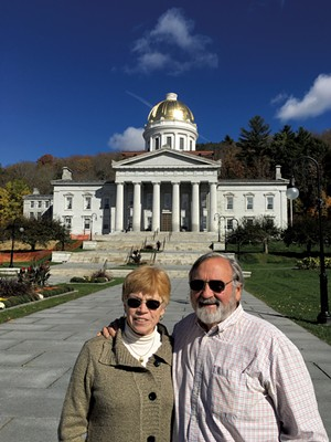 Kathy and Charles Giurtino in Montpelier - COURTESY OF KATHY AND CHARLES GIURTINO