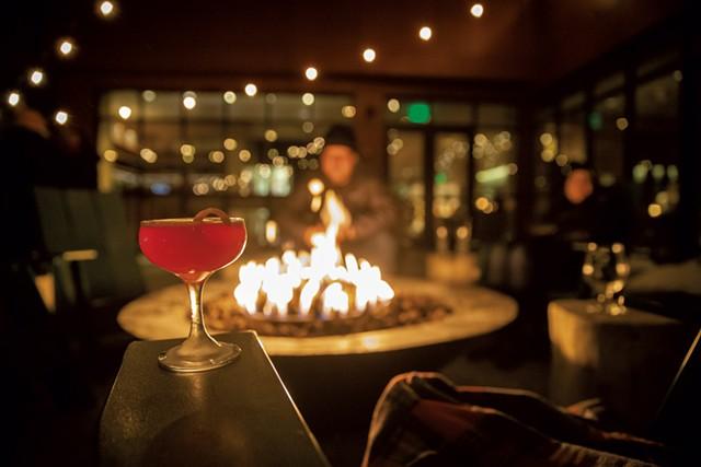 The firepit on Juniper's patio - JAMES BUCK