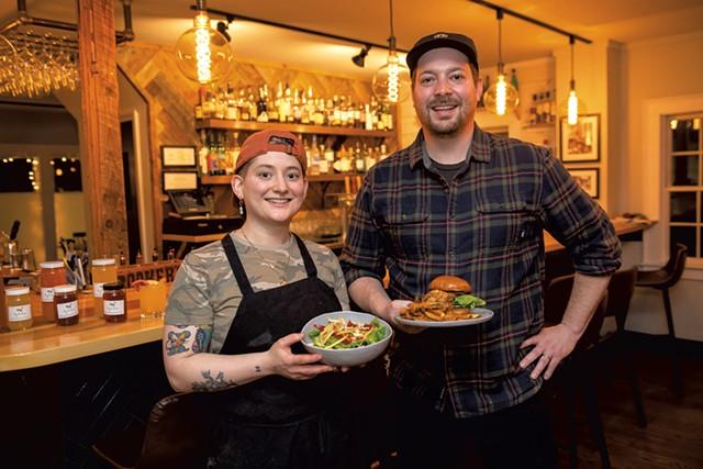 Chef Karina Curcio and house manager Nick Roy - DARIA BISHOP