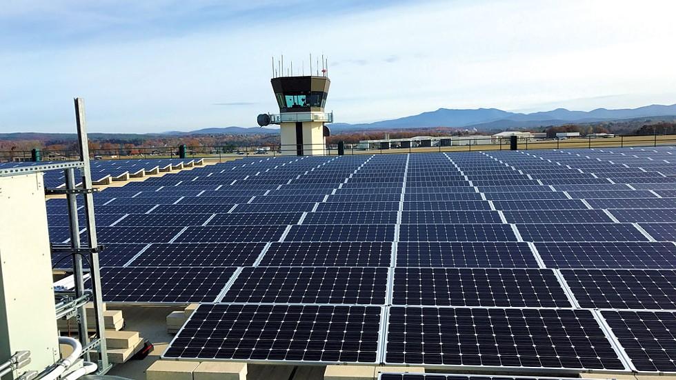 Solar panels at BTV - COURTESY PHOTO