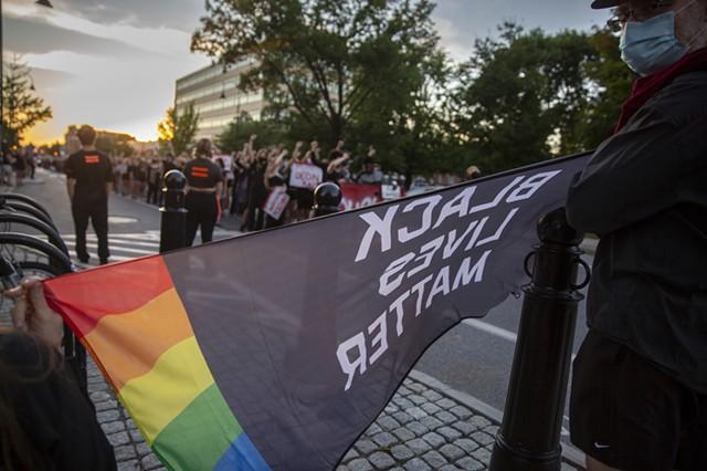 Racial justice protesters in downtown Burlington - FILE: JAMES BUCK