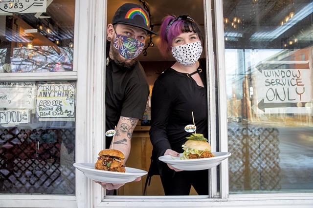 Bryan Gildersleeve of Chic Full Gay and Sarah Howley of Black Rose Briar - JAMES BUCK