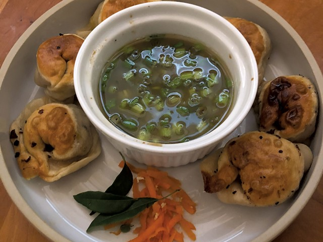 Jr. Iron Chef VT January cooking challenge dumpling recipe, made by August Simakaski - COURTESY OF AUGUST SIMAKASKI