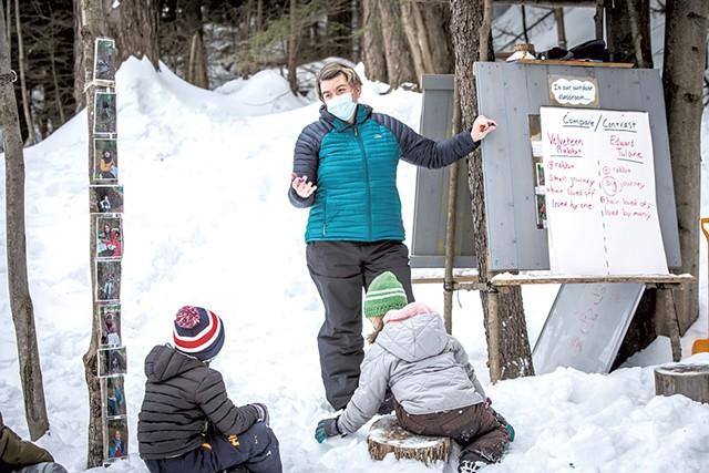 Jen Ellis teaching at her outdoor classroom - LUKE AWTRY