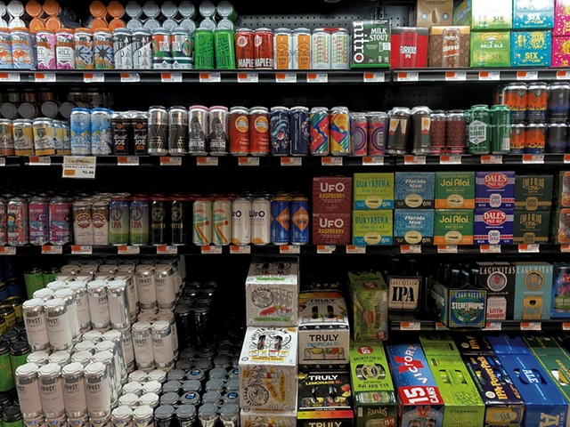The beer case at City Market, Onion River Co-op - MARGARET GRAYSON