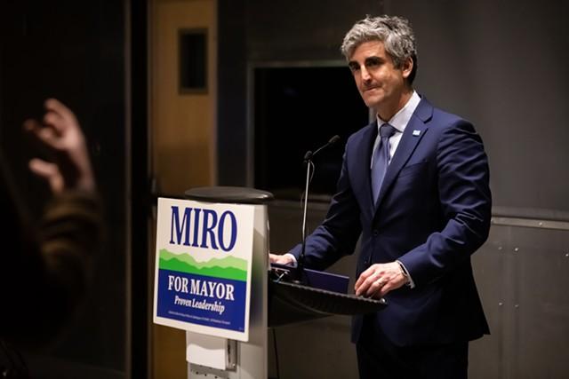 Mayor Miro Weinberger at the ECHO Center on Tuesday - LUKE AWTRY