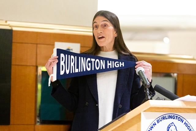 Burlington School Board chair Clare Wool - CAT CUTILLO