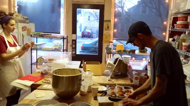Claire Merlet and Fernando Mureghias at Barrio Bakery - MELISSA HASKIN