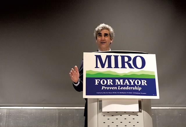 Mayor Miro Weinberger - FILE: LUKE AWTRY