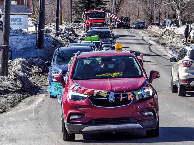 Jim Hasson's 95th birthday car parade - COURTESY OF OTIS NELSON