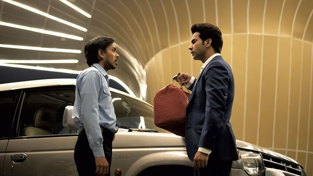 DRIVE MY CAR Roles are reversed by the end of Bahrani's dark satire about an ambitious chauffeur played by Gourav (left). - COURTESY OF NETFLIX