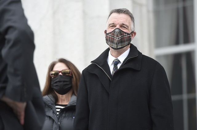 Gov. Phil Scott earlier this year - FILE: JEB WALLACE-BRODEUR