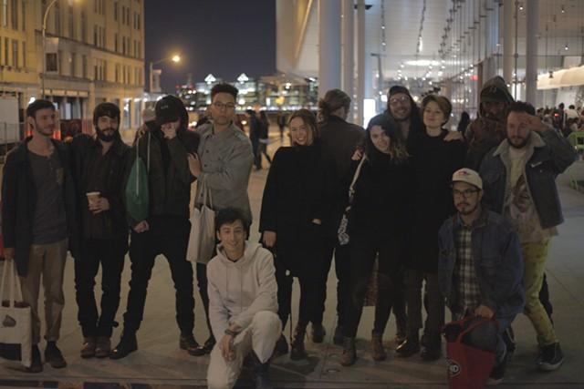 Base 12 artists outside the Whitney - COURTESY OF APOSTROPHE NYC