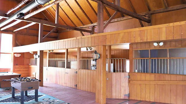Horse Barn stalls that were later converted into offices - COURTESY OF CENTURY 21 FARM & FOREST
