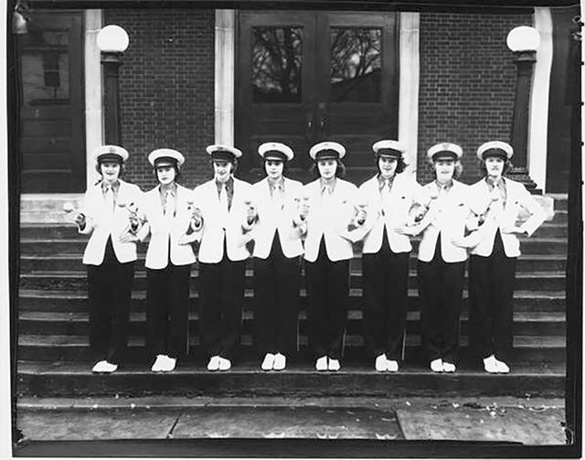 BHS Twirlers, 1949 - COURTESY OF UNIVERSITY OF VERMONT SPECIAL COLLECTIONS