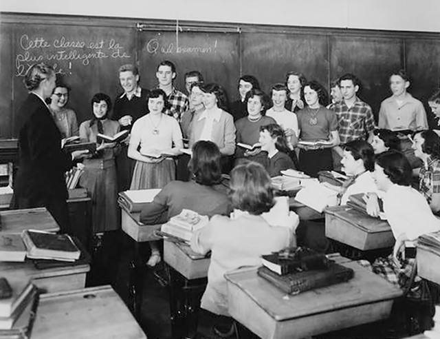 BHS French class in 1953 - COURTESY OF UNIVERSITY OF VERMONT SPECIAL COLLECTIONS