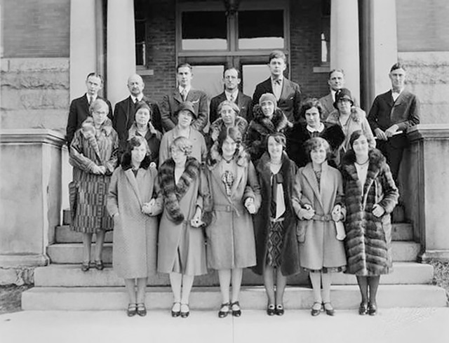 BHS faculty, 1930s - COURTESY OF UNIVERSITY OF VERMONT SPECIAL COLLECTIONS