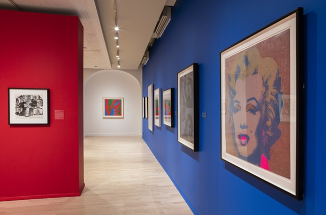 "Installation shot of ""Pop Art Prints"" - COURTESY OF FLEMING MUSEUM"