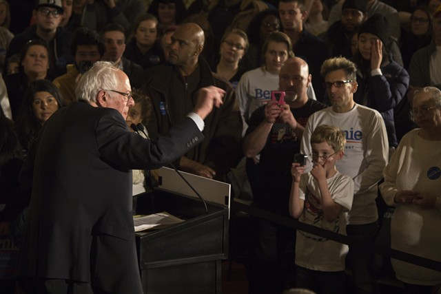 Sen. Bernie Sanders in January in Davenport, Iowa - FILE: MATTHEW TERRY