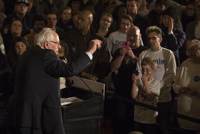Sen. Bernie Sanders in January in Davenport, Iowa - FILE: MATTHEW TERRY