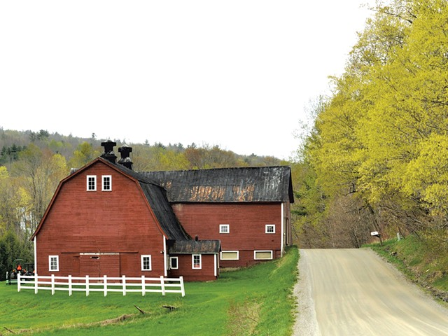 A barn and dirt road in Richmond - COURTESY OF ERICA HOUSKEEPER