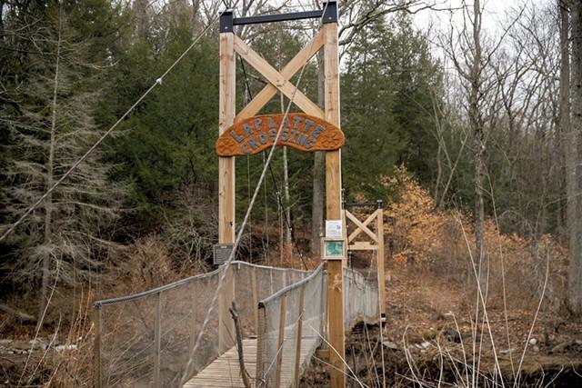 Suspension bridge at LaPlatte Nature Park - JAMES BUCK