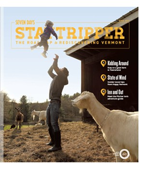 Lucas Farrell with daughter Maisie at Big Picture Farm in Townshend - LOUISA CONRAD   KIRSTEN THOMPSON