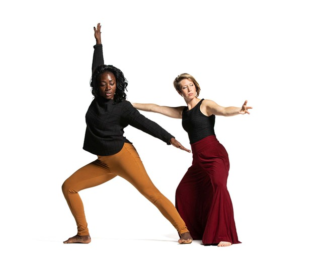 Christal Brown (left) and Lida Winfield in 'Same but Different' - COURTESY OF JONATHAN HSU