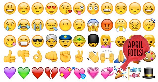 Sample emoji keyboard