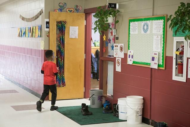 A student inside the Winooski school building in 2019 - FILE: LUKE AWTRY