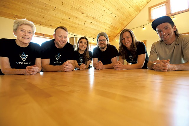Kevin Kennedy (second from left) and staff at vTerra - BEAR CIERI
