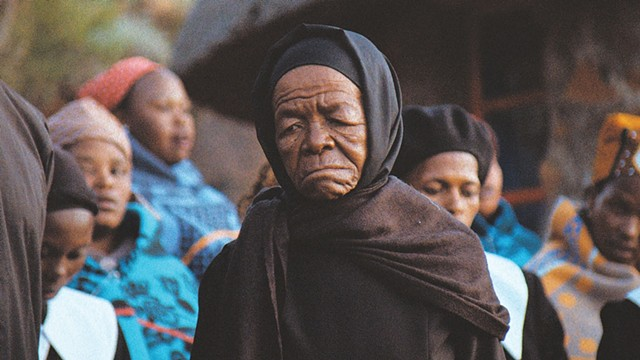 MOTHER COURAGE The late Twala plays a matriarch resisting the destruction of her way of life in a landmark film from Lesotho. - COURTESY OF DEKANALOG