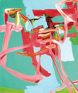 """Stork,"" oil on canvas"