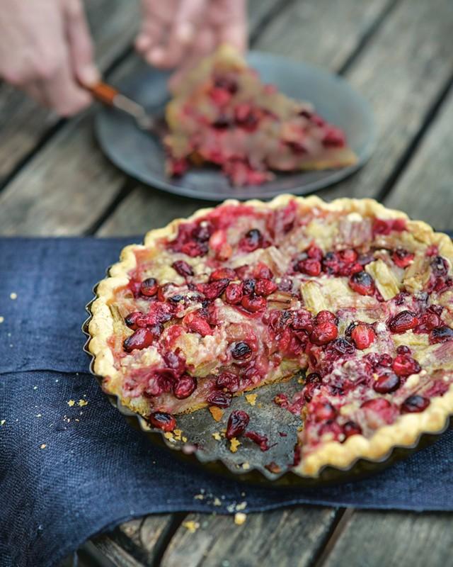 Rhubarb pie with ginger and lemon from The New Heirloom Garden by Ellen Ecker Ogden - MATTHEW BENSON