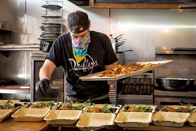 Andrew Ryan preparing meals for hospital workers at Drifters - FILE: LUKE AWTRY