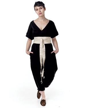 Patricia Trafton modeling a KWBB jumpsuit - HOMER HOROWITZ