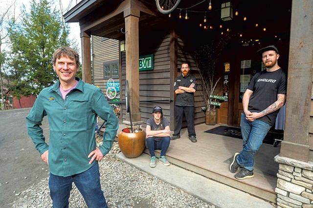 From left: co-owner Ryan Thibault, shop manager Mar Kuhnel, chef Joe Rock and service manager Darren Benz - JEB WALLACE-BRODEUR