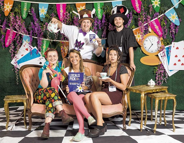 Staff from Burlington's Friendly Toast at the Alice in Wonderland-themed Daysies party in 2019 - FILE: OLIVER PARINI