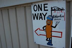 A sign on the Burlington building - MATTHEW ROY ©️ SEVEN DAYS