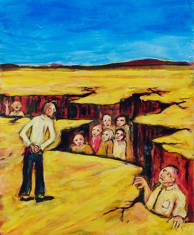 """""""People Who Have Fallen Thru the Cracks"""" by Tony Shull - COURTESY OF CAROLYN BATES"""