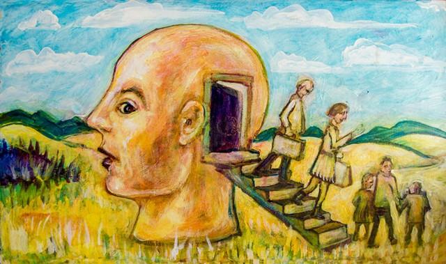 """""""Family Vacation"""" by Tony Shull - COURTESY OF CAROLYN BATES"""