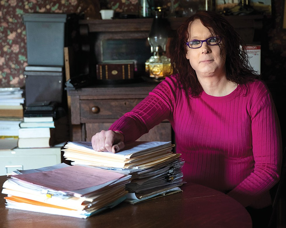 Stephanie Mattson spent almost two decades in men's correctional facilities in Vermont before she came out as a woman in 2016. - JAMES BUCK