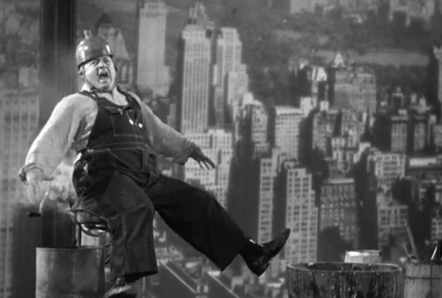 "Curly cools his heinie in ""How High Is Up?"" - COLUMBIA PICTURES"