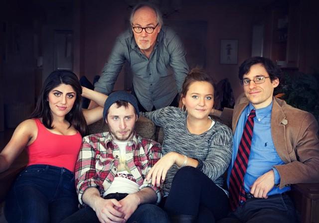 Standing: Roy Cutler; seated, from left: Aryana Sedarati, Sam Cutler, Lida Benson, Jack DesBois