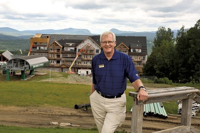 Bill Stenger last August at Q Burke Mountain Resort - FILE: DON WHIPPLE